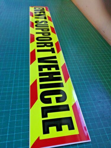 Vehículo de soporte de eventos Chevron Imán maratón Media Running Festival Medic carrera