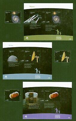 Portugal + Azoren + Madeira 2009 - Europa Cept - Astronomie - 3 Em + 3 Blocks Zu Hohes Ansehen Zu Hause Und Im Ausland GenießEn