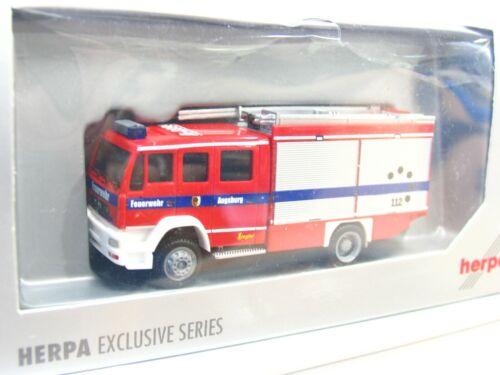 Herpa 1//87 Man le2000 lf 16//12 bomberos Augsburg embalaje original kv5477