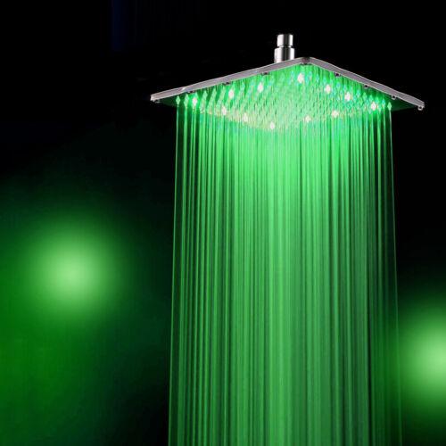 LED Pommeau De Douche Shower Douchette Pomme de Pluie Robinet Salle de Bain