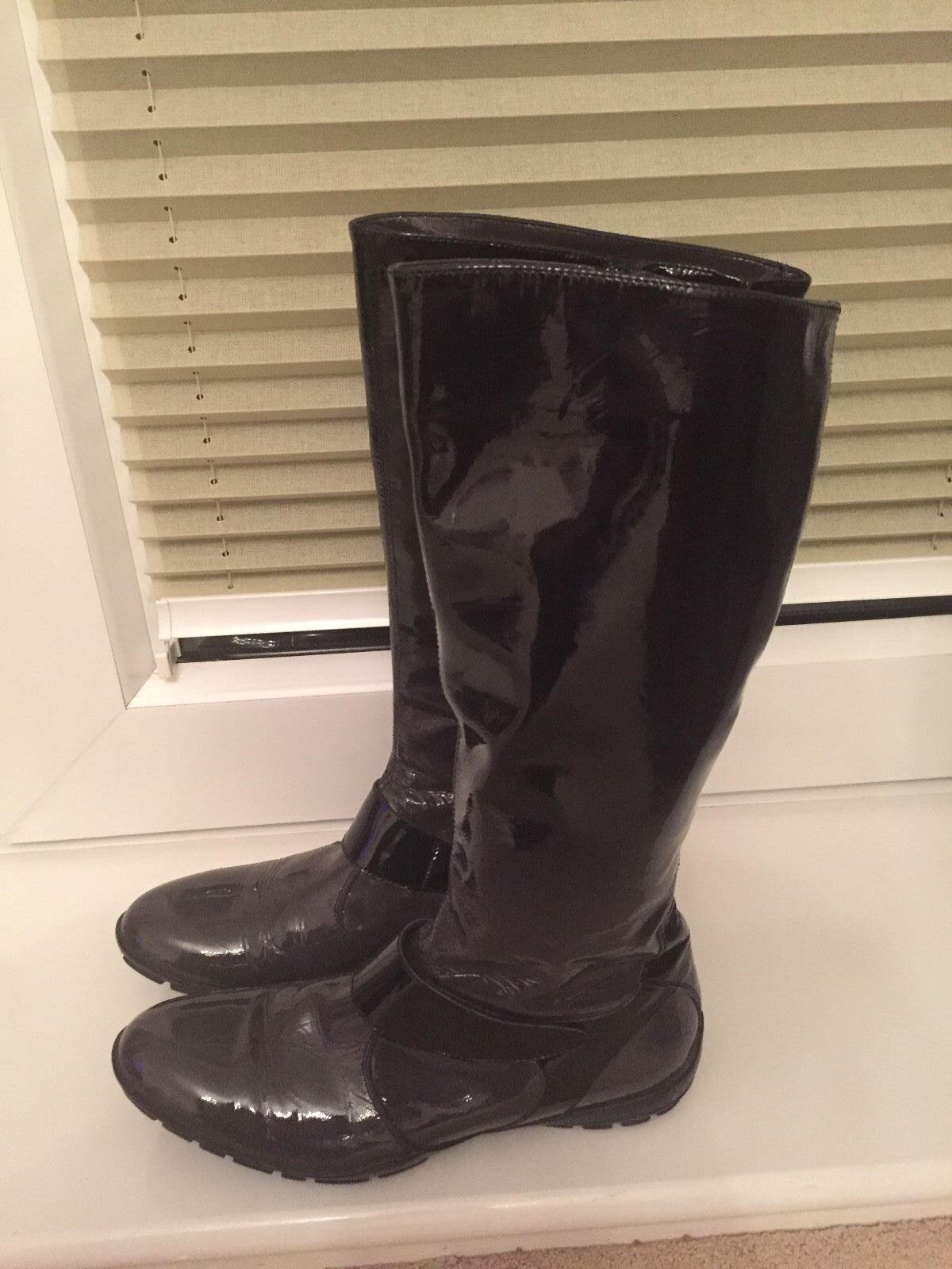 Baldinini Italian boots, schuhe patent Leder Größe 38,very soft 5UK schwarz,Grau