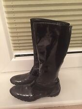 Baldinini Italian boots, shoes patent leather size 38,very soft 5UK black,grey