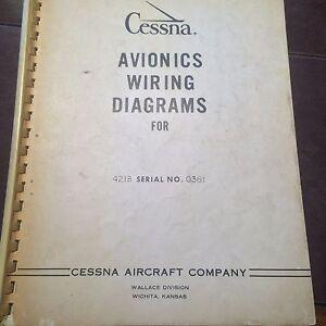 Pleasant Avionics Wiring Diagrams For Cessna 421B Sn 0361 Ebay Wiring 101 Vieworaxxcnl