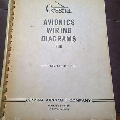 avionics wiring diagrams for cessna 421b sn 0361  ebay