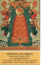 895 Madonna di Loreto   Santino Holycard