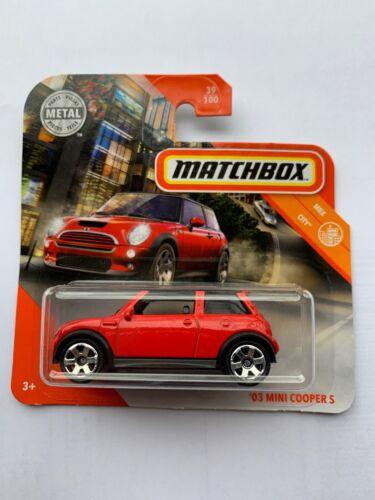 Matchbox '03 Mini Cooper S Rot MBX City 2020 NEU