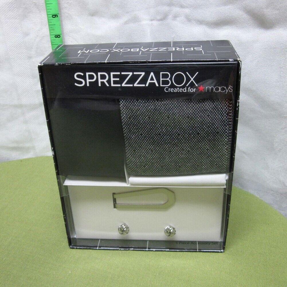 SPREZZABOX moneyclip Macy's men's fashion NWT cufflinks box-set