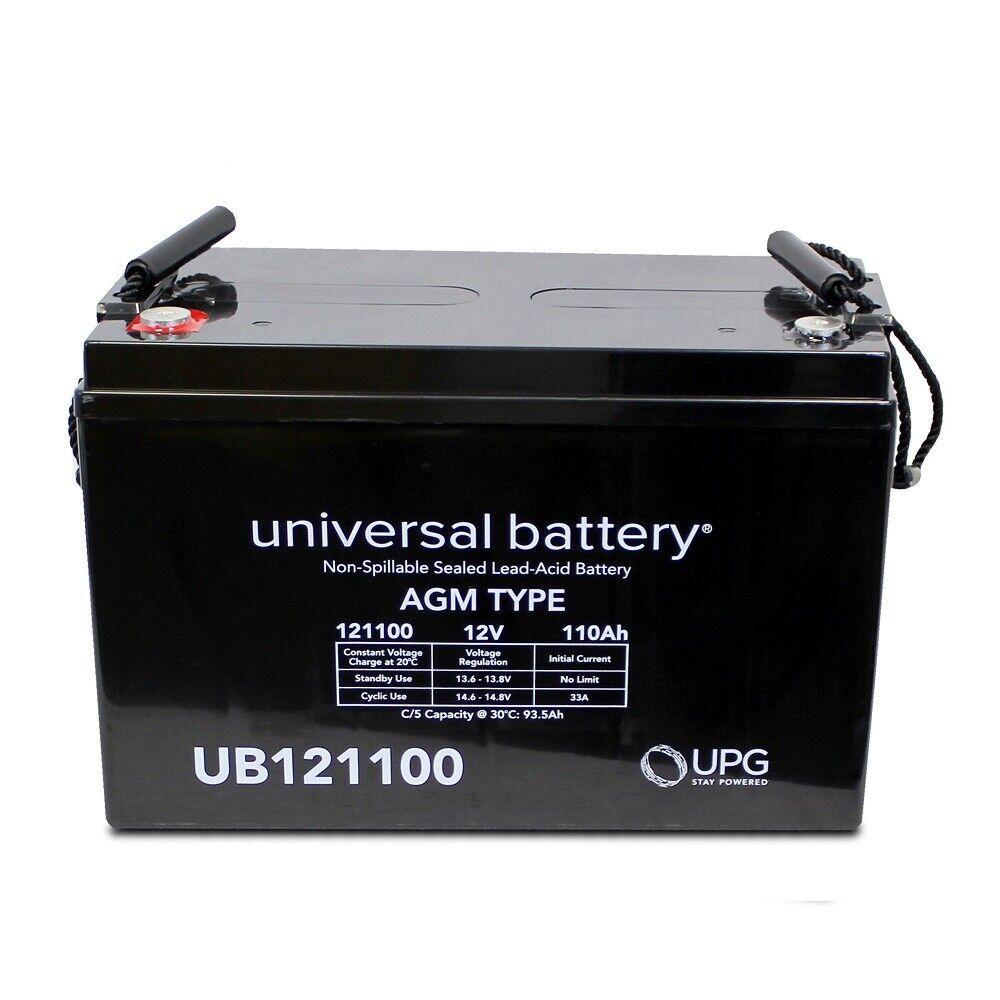 12V 110Ah AGM Solar Battery UB121100 Replaces Group 31 Fast USA Ship