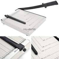 12 Precise Manual Paper Cutter Photo Trimmer Scrapbooking Metal Base Craft Tool