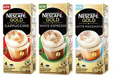Set of 3 Tastes NESCAFE GOLD Premix Coffee Powder CAPPUCCINO , LATTE , ESPRESSO