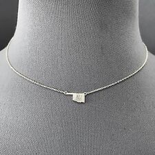 Fashionable Trendy Silver Dainty Metal oklahoma State Pendant Design Necklace