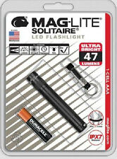 Maglite Solitaire LED 1 Cell AAA Flashlight Keychain SJ3A016 Black LED  USA