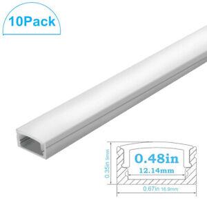 Flush-Mount-Aluminum-LED-Fixture-Profile-Channel-Housing-Strip-Lights-DIY-Lights