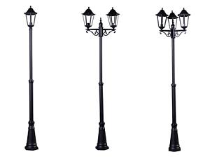 2 5m Victorian Garden Lamp Post Lights
