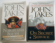Lot of John Jakes Civil War PB's NORTH AND SOUTH & ON SECRET SERVICE VGC