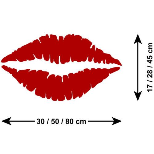 Autocollant Mural Imprimé Lèvres-Rouge à lèvres kiss Mur Art-autocollant decal