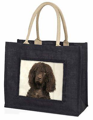Irisch Wasser Spaniel Hund große schwarze Einkaufstasche Weihnachtsgeschenk