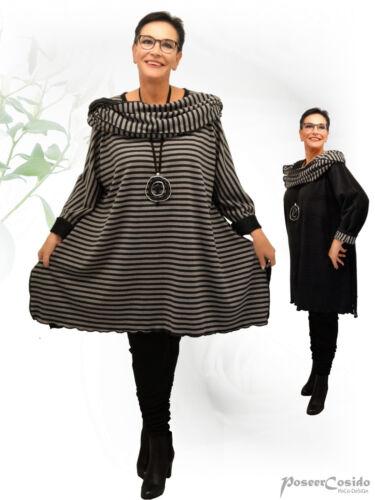 POCO Design superposé tournant-Pull long Shirt Pull Flausch L-XL-XXL-XXXL