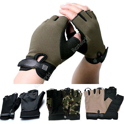 New Motorcycle Sport Mountain Bike Bicycle Cycling Half Finger Gloves Mitts