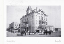 """*Postcard-""""The Central Hotel"""" @ South 3rd & Avenue A-(Rates $2) Temple, Tx (#65)"""