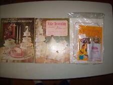Vintage Cake & Food Decorating book lot of 3 (2 Wilton & 1 Miriam B. Loo's Kit)