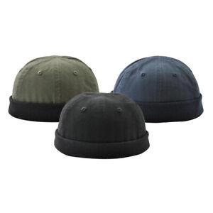 3 pièces casquette crâne homme roll up casquette docker sans visière