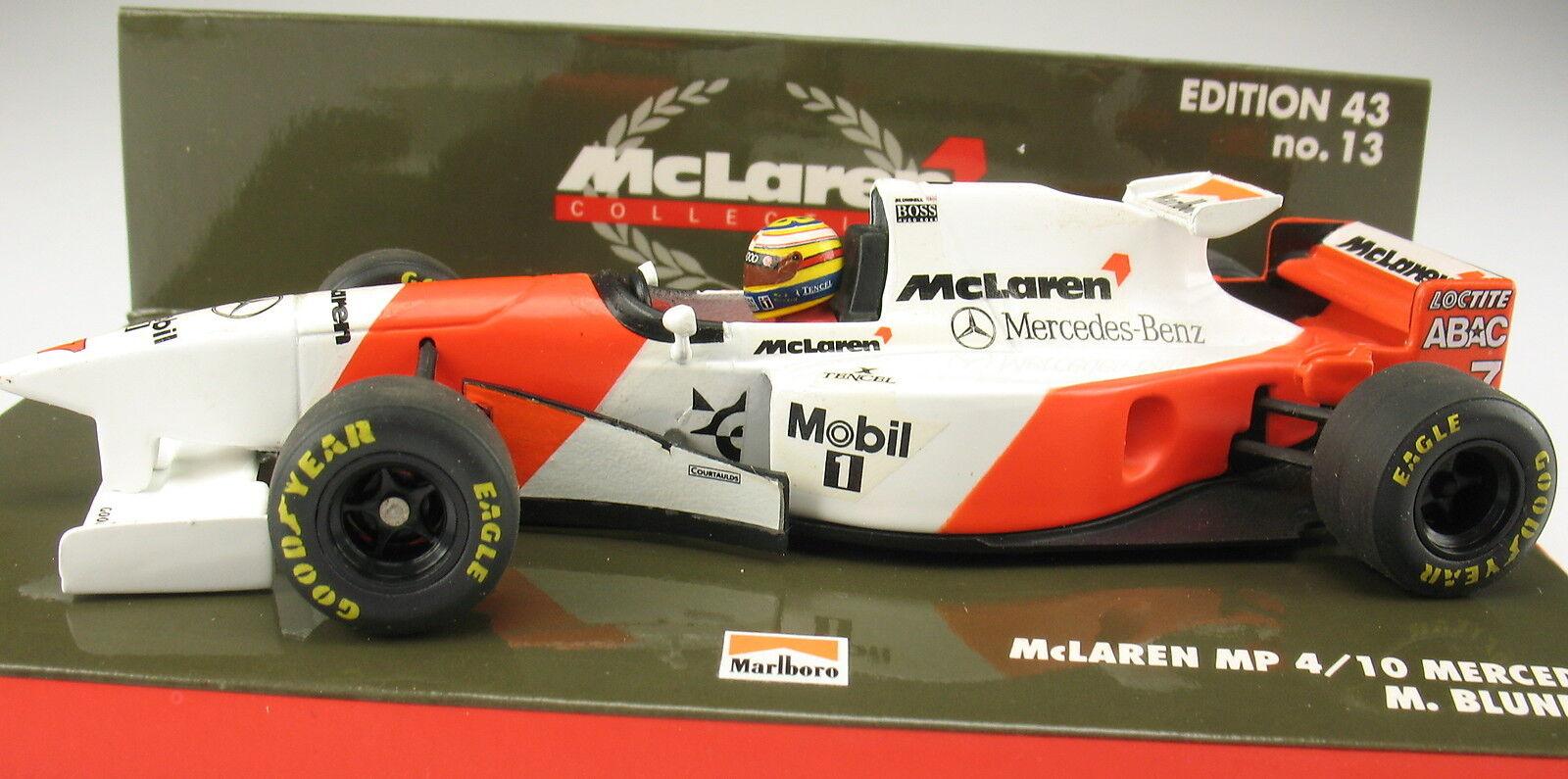 Minichamps-f1 McLaren Mercedes MP 4-10 - M bleundell-MARLBor - 1 43 No. 13