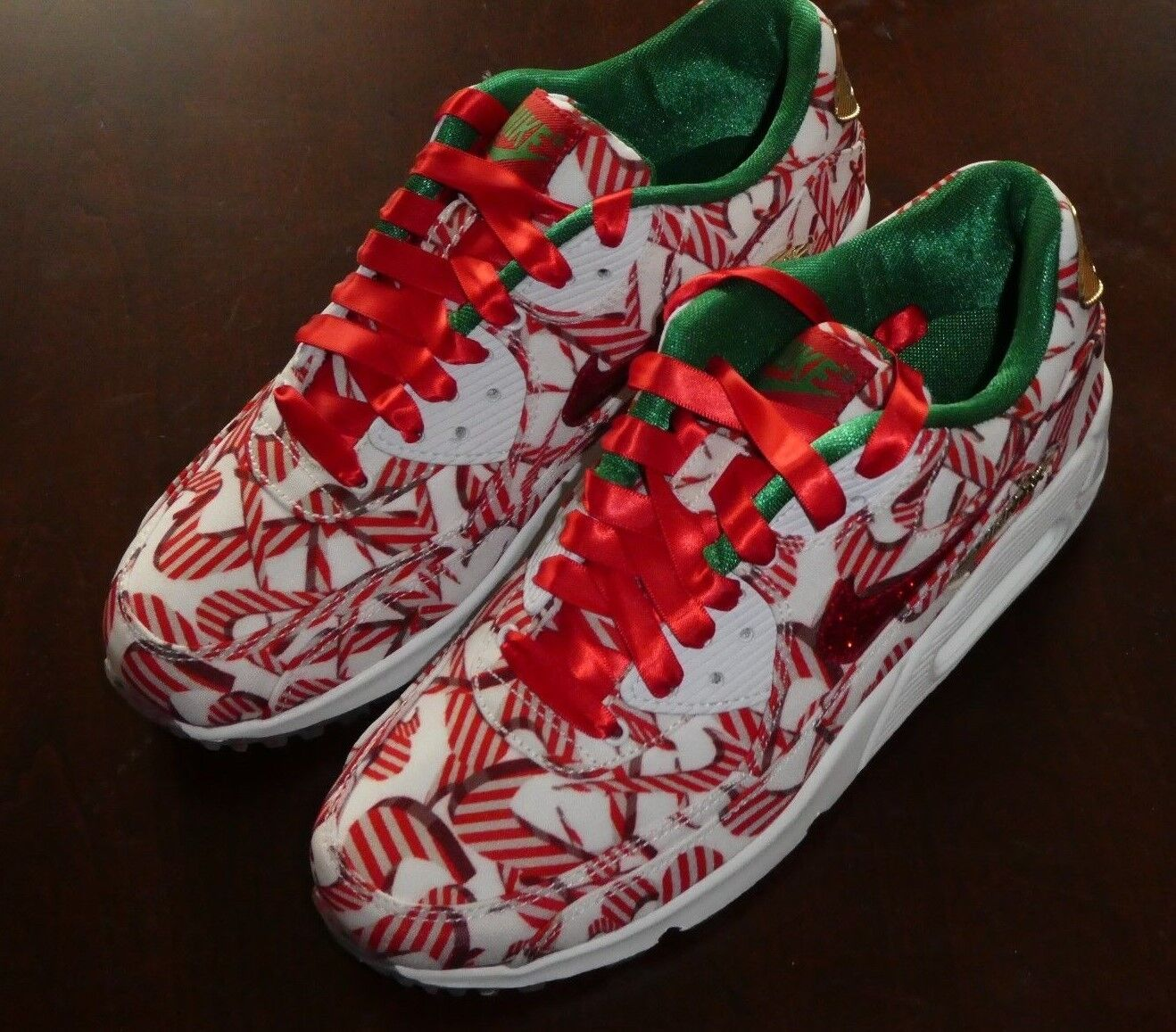 Womens Nike Air 813150 Max 90 QS 813150 Air 101 Christmas shoes ...