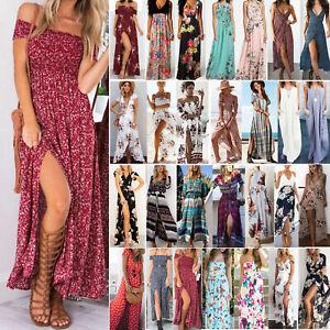 Women-Boho-Floral-Maxi-Dress-Summer-Beach-Long-Evening-Cocktail-Party-Sundress