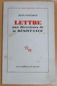 Jean-Paulhan-Letter-Aux-Directors-de-La-Resistance-Documents-Ed-Midnight-1952