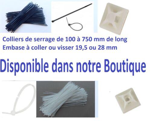Cosse électrique isolée Embout Plat et Embout Rond 0.5 à 6 mm² Lot de 10 à 50