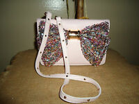 Betsey Johnson Oh Bow Sequin Blush Pink Crossbody Wallet Purse Bag Sold Out
