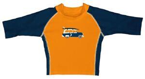 Baby UV-Schutz Schwimmshirt orange dunkelblau von i play Gr. 0-6, 24-36 Monate