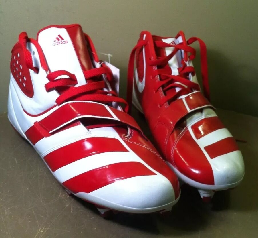 nouvelle ~ adidas malice d - rouge - blanc hommes hommes blanc haut taille 16 g22781 crampons 637a73