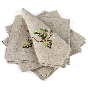 Table-Napkins-Set-of-4-Gray-Ivy-16-034-x16-034-100-European-Linen