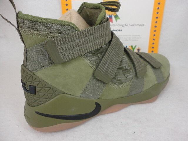 Nike Lebron Soldier XI SFG, Medium Olive Sz / Black, 897646 200, Sz Olive 13 a3e49c