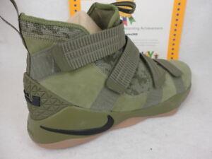 classic fit 5f5ba 5c496 Image is loading Nike-Lebron-Soldier-XI-SFG-Medium-Olive-Black-