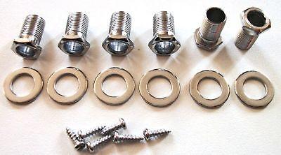 bushNEW 6 BUSHINGS adaptateurs pour mécaniques pour guitare chrome