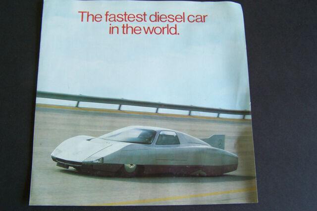 mercedes c111 diesel sales brochure fastest diesel car in the world