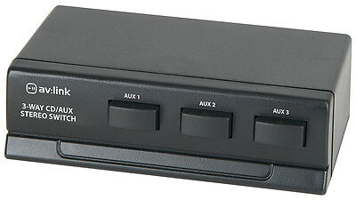Stereo Audio DVD CD/AUX switch, 3-way Selector RCA Phono 128.234