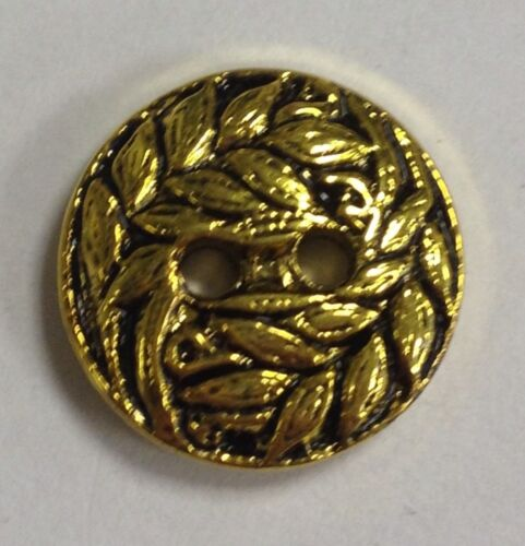 13mm Pack Of 10 Gold Effect Buttons 20 Ligne