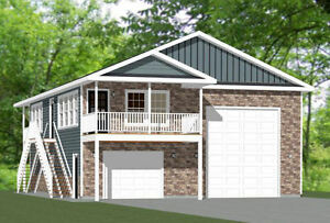 36x40 apartment with 1 car 1 rv garage 902 sqft pdf for Rv garage apartment plans