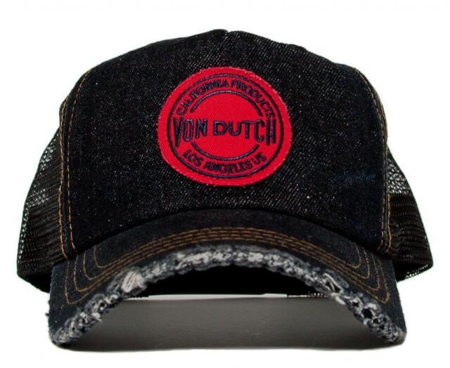 Authentic Von Dutch Black Denim California Products Los Angeles Hat Cap Rare 953aea5273a