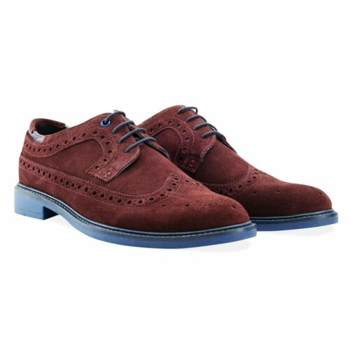 Goodwin 44 Smith 10 Lg01 Suede Uk Brogue £90 Baxendale Rrp Eu 59 Salew Burgundy rrqdvwT