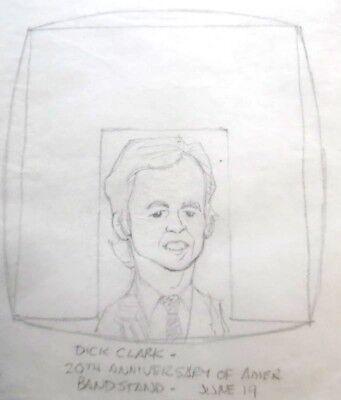 Al kilgore pencil drawing dick clark american bandstand 20th anniversary akd184