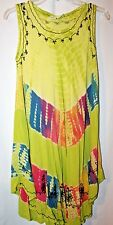 Indian Tropical Fashion Women's Dress or Swim Cover---Free Size