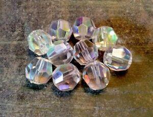 Packung 10 Perlen Mit Facetten 14mm IN Kristall Böhmen Hellrosa