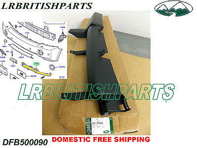 Genuine LAND ROVER BUMPER SPOILER FRONT LOWER RANGE ROVER 06-09 RH OEM NEW DFB500080