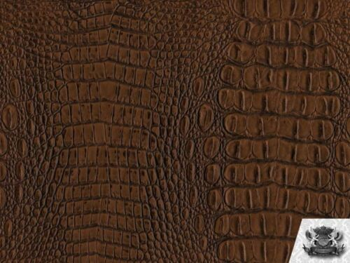 Crocodile Vinyl MATTE TOPAZ CROCK Fabric Upholstery Sold By The Yard