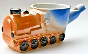 Antique-1920s-Novelty-Confectionary-Egg-Cup-Whistle-Chick-On-Train-10cm-wide